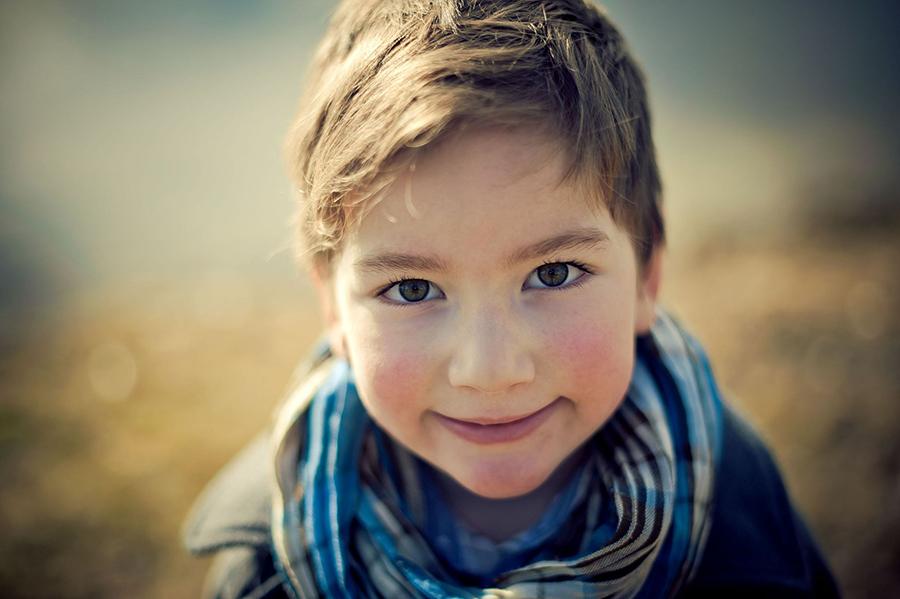 Portrait von Kind