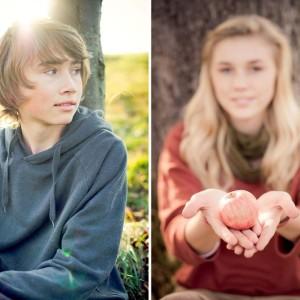 Familienfotos im goldenen Herbst